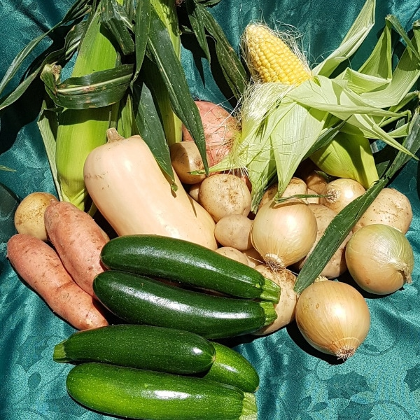 Various vegetables on a table
